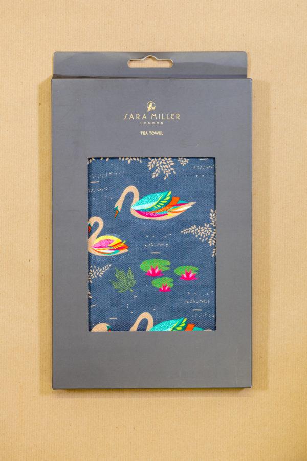 Sara Miller Tea Towel - Swan