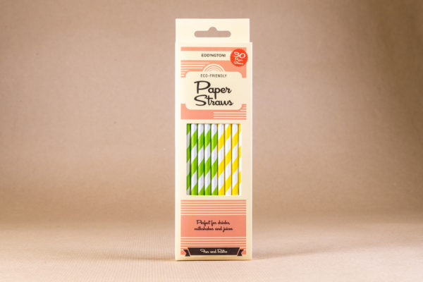 Striped Straws - Lemon and Lime