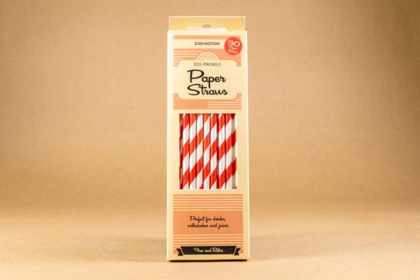 Striped Straws - Red