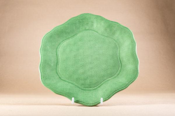 Green Melamine Side Plate