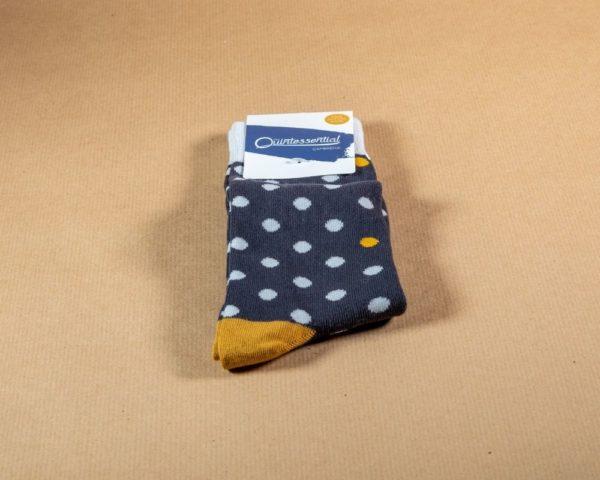 Mens bamboo socks - blue
